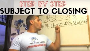 SUBJECT TO CLOSING- Step By Step Explanation how it works!