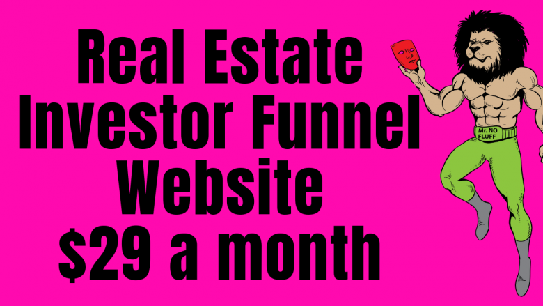 Real Estate Investor Funnel Website $29 a month (The Alchemist Net)