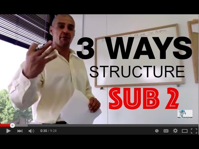 "Seller Financing- 3 ways to structure a ""Subject to Investing"" Real Estate Deal"