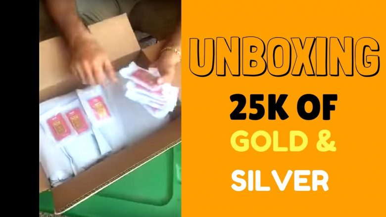 unboxing 25k gold and silver