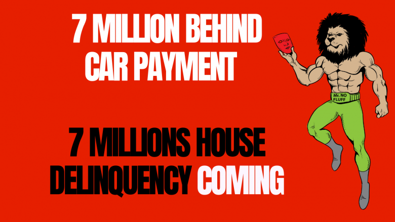 Economic Collapse News: 7 Million Behind Car Payment, soon 7 Millions House Delinquency coming