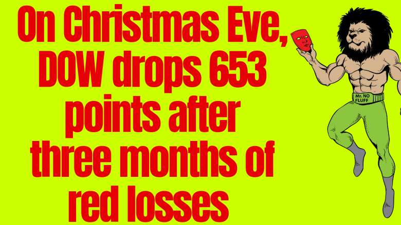 On Christmas Eve, DOW drops 653 points after three months of red losses