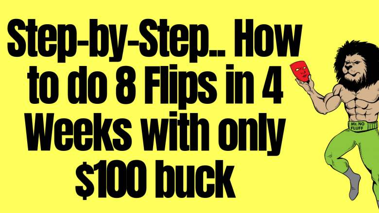 Step-by-Step.. How to do 8 Flips in 4 Weeks with only $100 buck