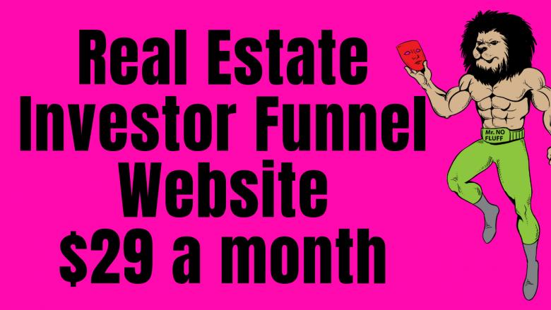 Real Estate Investor Funnel Website $29 a month (The Alchemist Net)