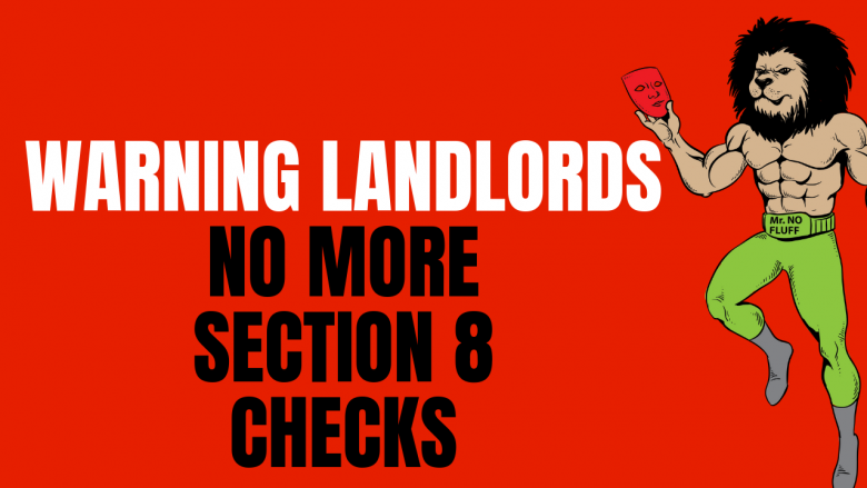 Warning Landlords: No more Section 8 Rental Checks with government shutdowns. Tenants evictions