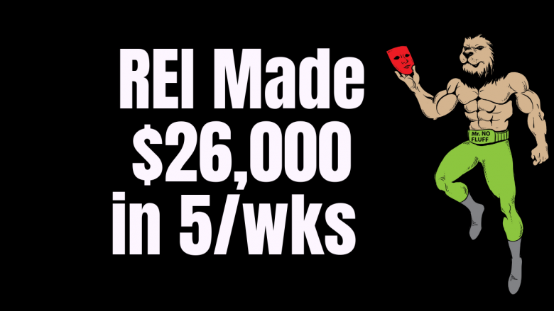REI Made $26,000 in 5/wks spending $0 marketing, I literally mapped out the process for you here